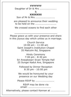 Sikh Marriage Invitation Wordings Card