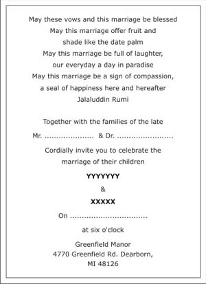 wedding invitation cover letter wordings