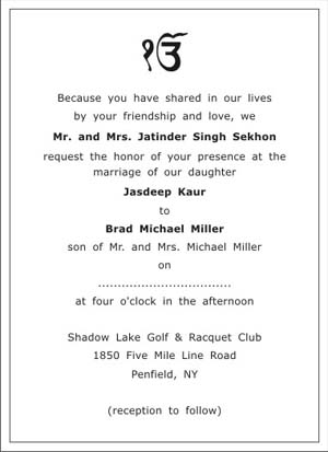 Sikh Wedding Invitations for your inspiration to make invitation template look beautiful