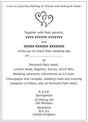 Wedding Invitation Email Sample Colleagues Ideas